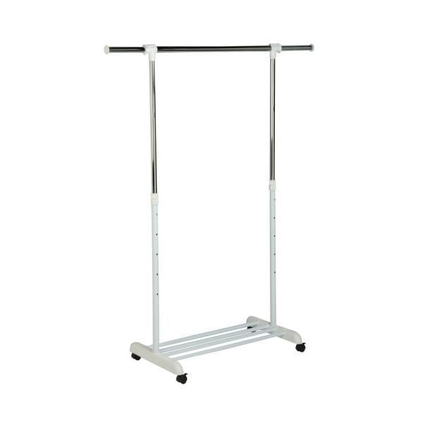 Chrome Steel Clothes Rack with Wheels (53 in. W x 64 in. H)