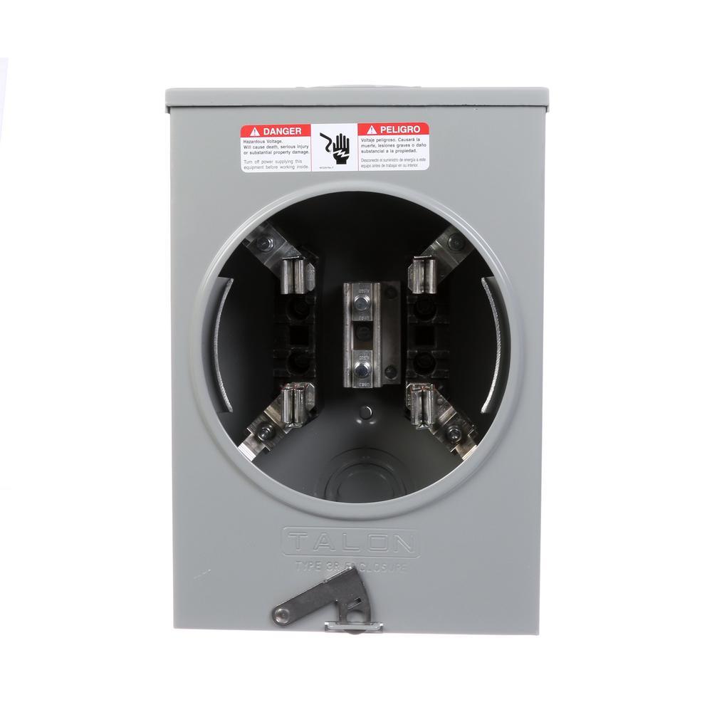 135 Amp 4-Jaw Horn Bypass OH/UG Fed Meter Socket