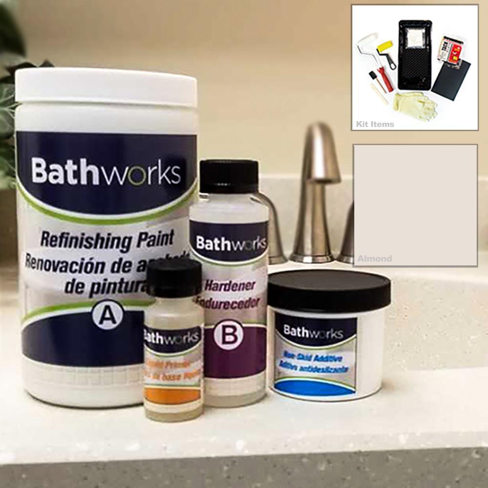 22 oz. DIY Bathtub Refinishing Kit with Slip Guard in Almond