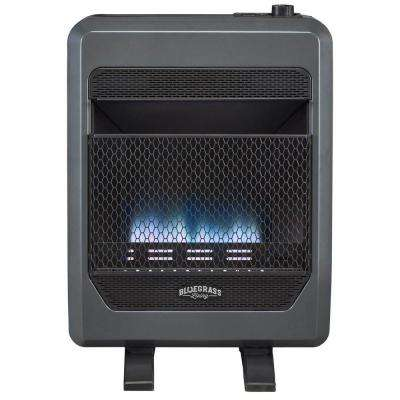 26 in. 20,000 BTU Vent-Free T-Stat Control Propane Gas Blue Flame Gas Space Heater with Blower