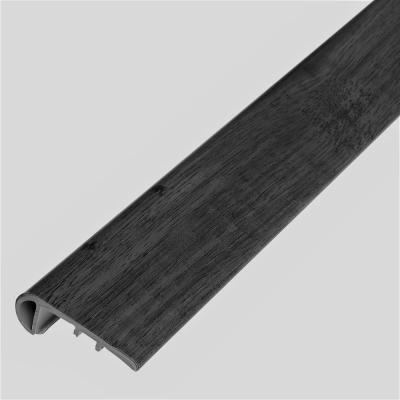 Melrose Oak Rifle 1/8 in. Thick x 1-3/4 in. Wide x 94 in. Length Vinyl Stair Nose Molding