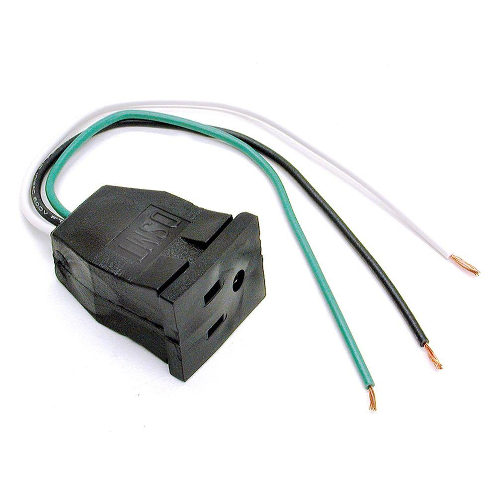 Dial 10 In Evaporative Cooler Pump Pigtail Receptacle 7587 The Wiring An Outlet