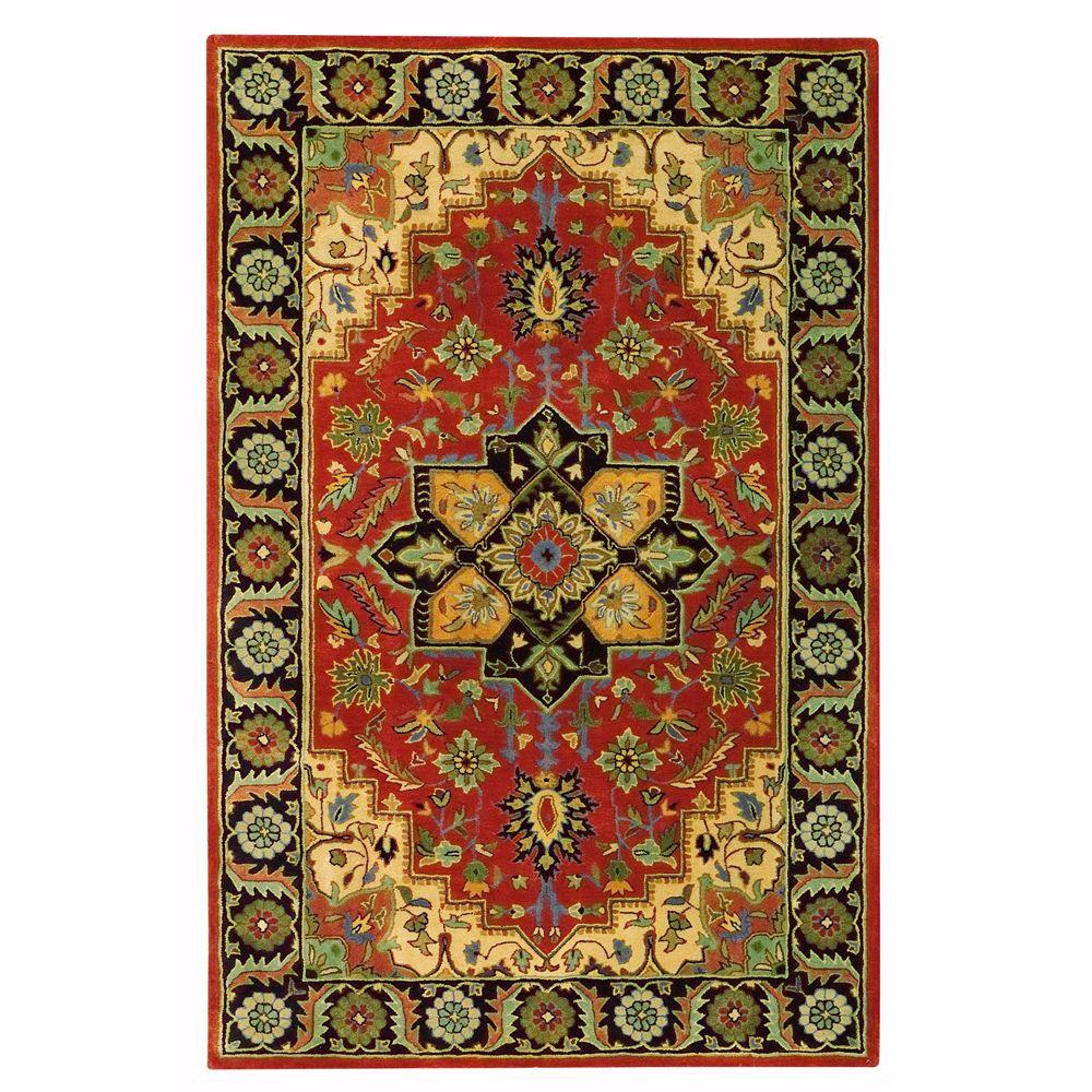 Home Decorators Collection Normandie Rust 9 ft. 6 in. x 13 ft. 9 in. Area Rug