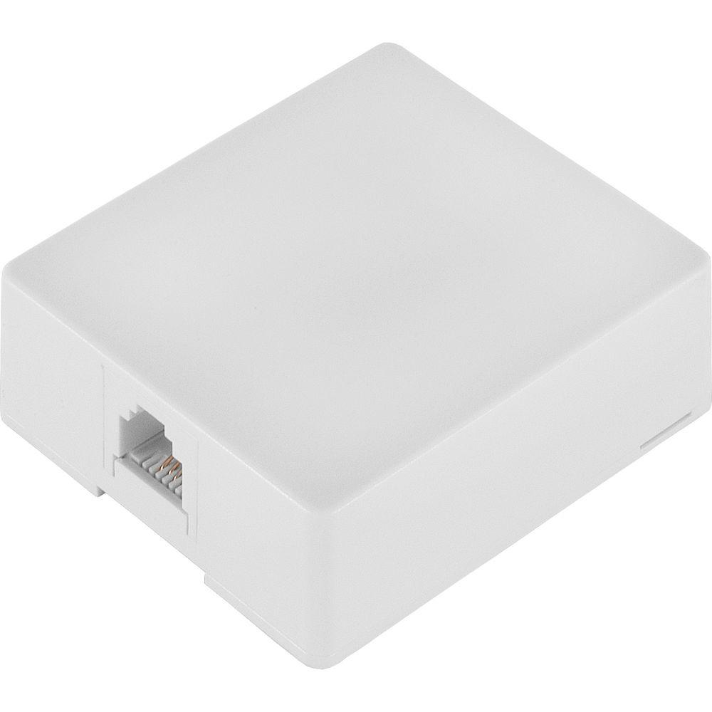 GE 76136 Surface Mount Phone Jack, White