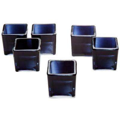 Black Glass Square Votive Candle Holders (Set of 72)