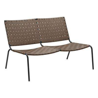 Beckett Espresso Metal Outdoor Loveseat