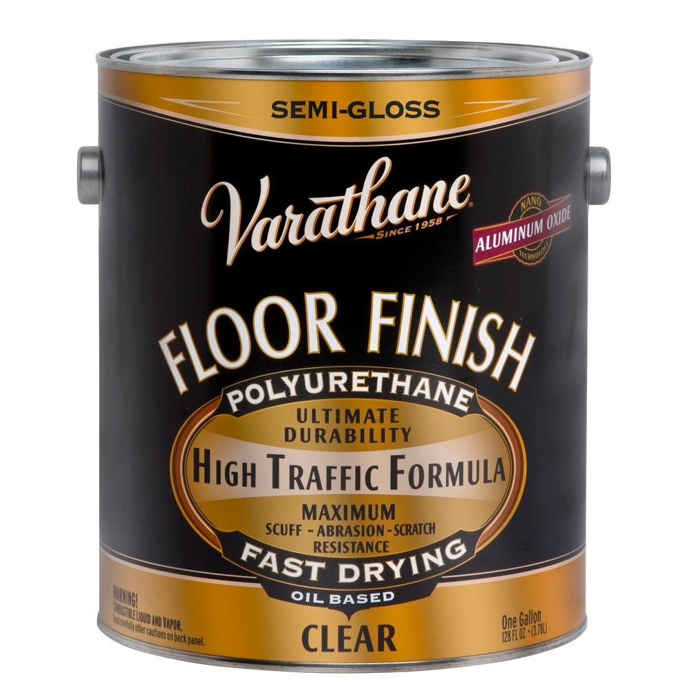 Varathane 1 gal. Clear Semi-Gloss Oil-Based Floor Finish Polyurethane