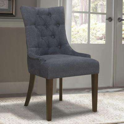 Dark Wash Denim Dining Chair