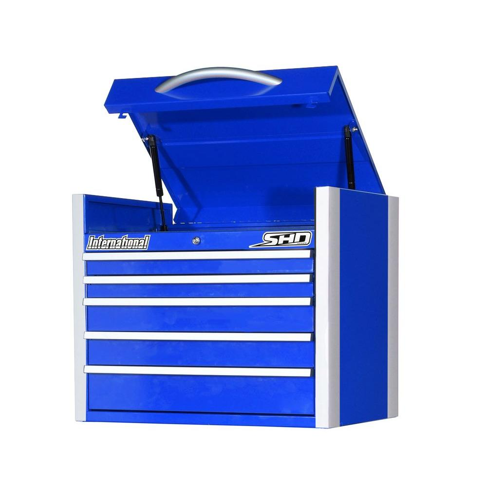SHD Series 27 in. 5-Drawer Top Chest, Blue