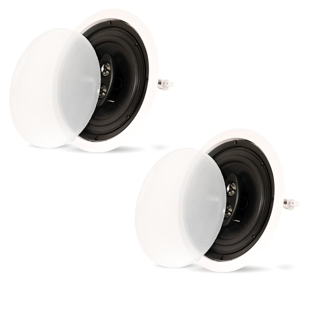 In-Ceiling 3-Way 8 in. Speakers Home Theater Surround Pair