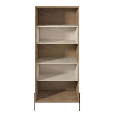 Joy Off White 5-Shelf Bookcase