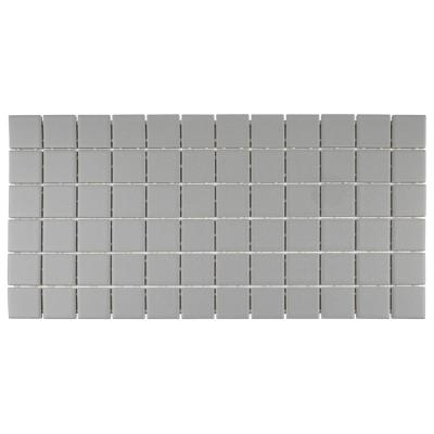 Restore Matte Dove Gray 12 in. x 24 in. x 6.35 mm Glazed Ceramic Mosaic Tile (2 sq. ft./piece)