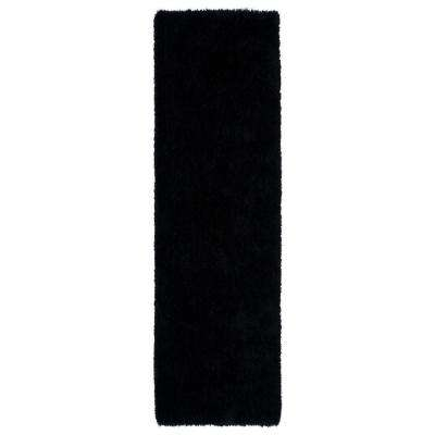Posh Black 2 ft. x 8 ft. Runner Rug