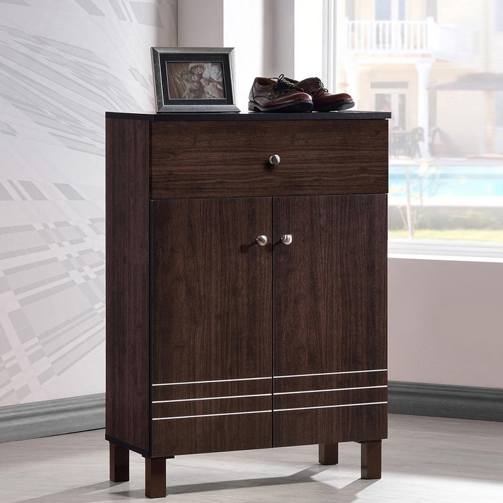 Felda Dark Brown Wood Cabinet