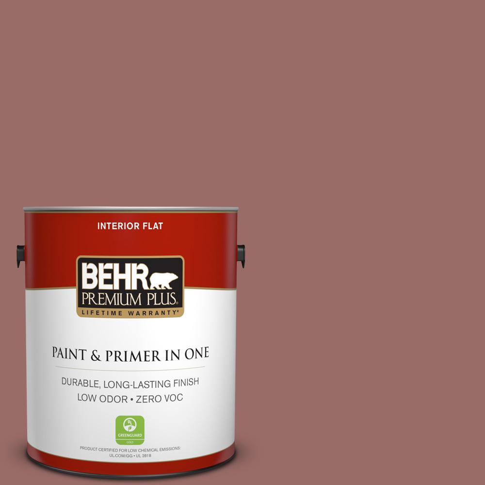 1 gal. #170F-6 Gentle Doe Flat Zero VOC Interior Paint and