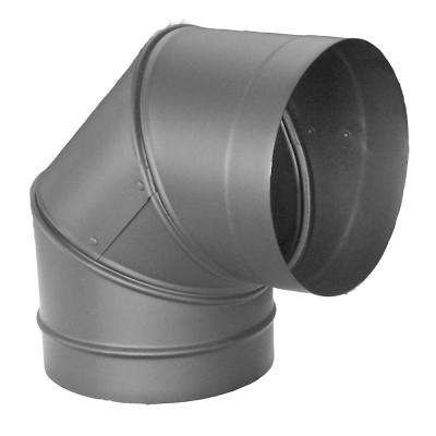 DuraBlack 6 in. 90-Degree Elbow Single-Wall Chimney Stove Pipe