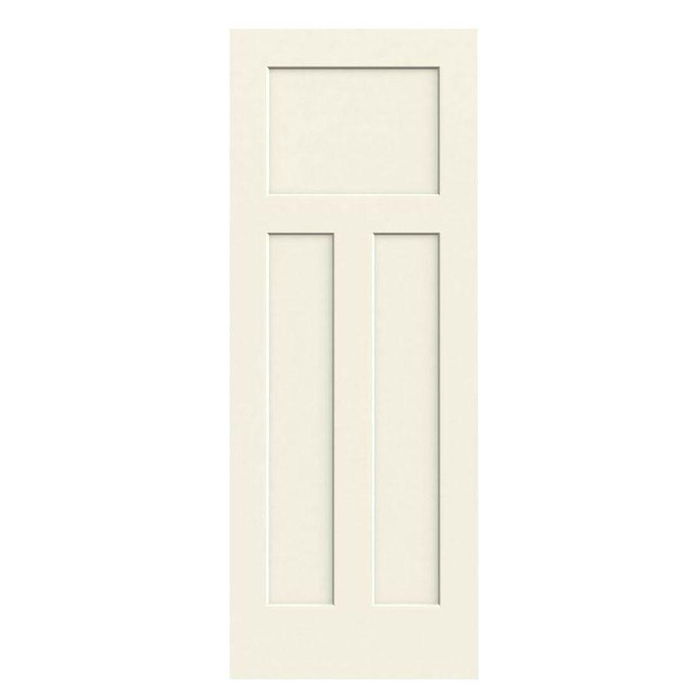 JELD-WEN 28 In. X 80 In. Craftsman Vanilla Painted Smooth