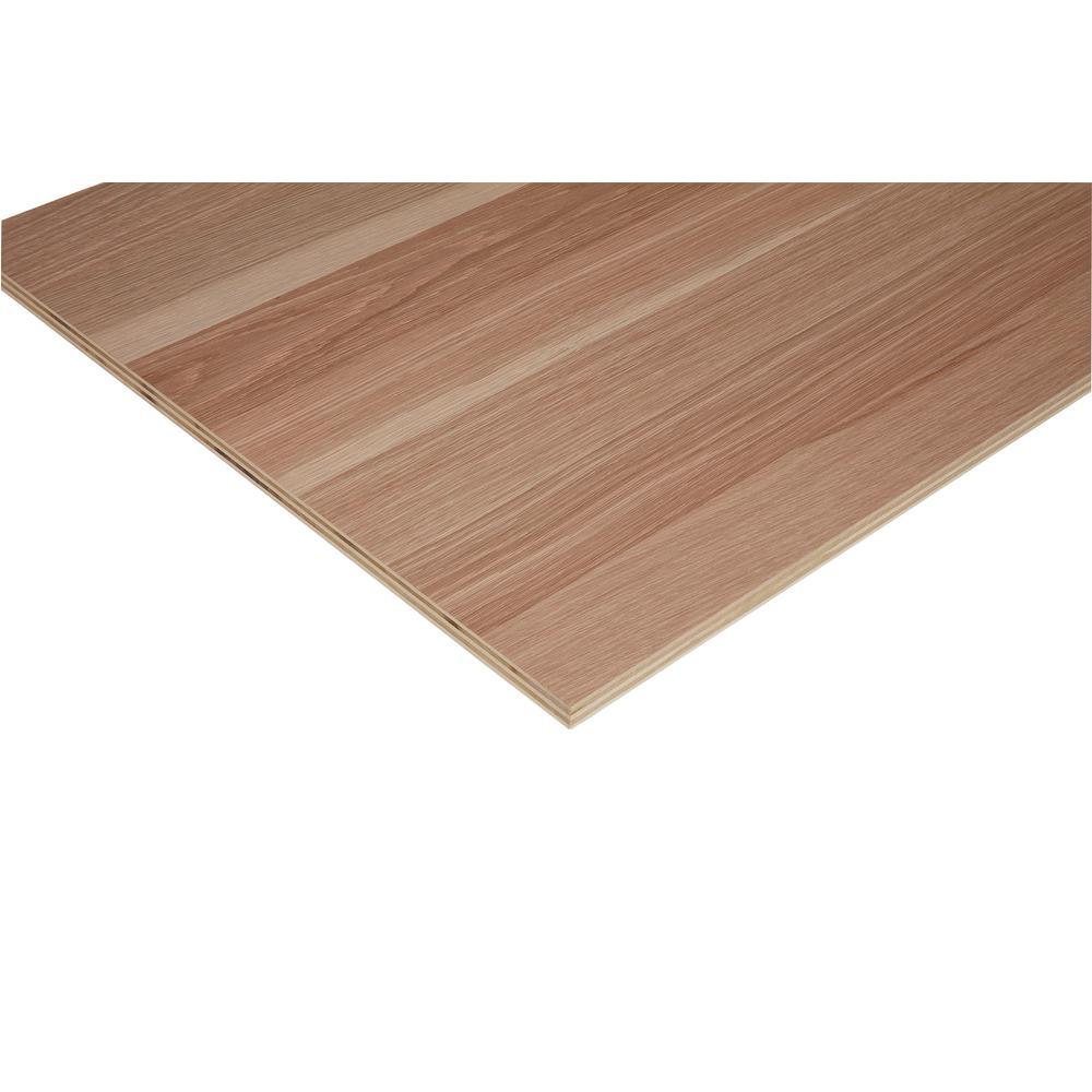 3/4 in. x 2 ft. x 2 ft. PureBond Enhanced Grain White Oak Plywood Project Panel