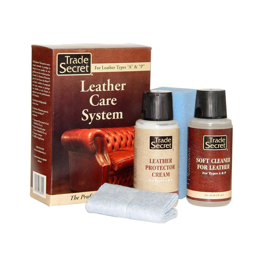 Leather Sofa Paint Kit: Trade Secret Leather Care System (4-Piece Kit)-686300