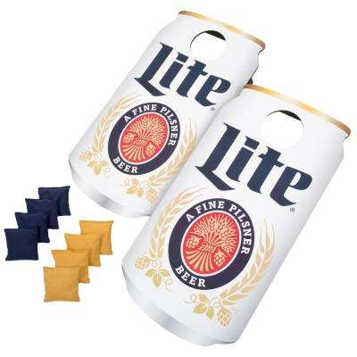 Miller Lite Can Cornhole Bean Bag Toss Game