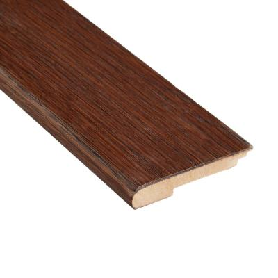 Distressed Barrett Hickory 3/8 in. Thick x 3-1/2 in. Wide x 78 in. Length Stair Nose Molding