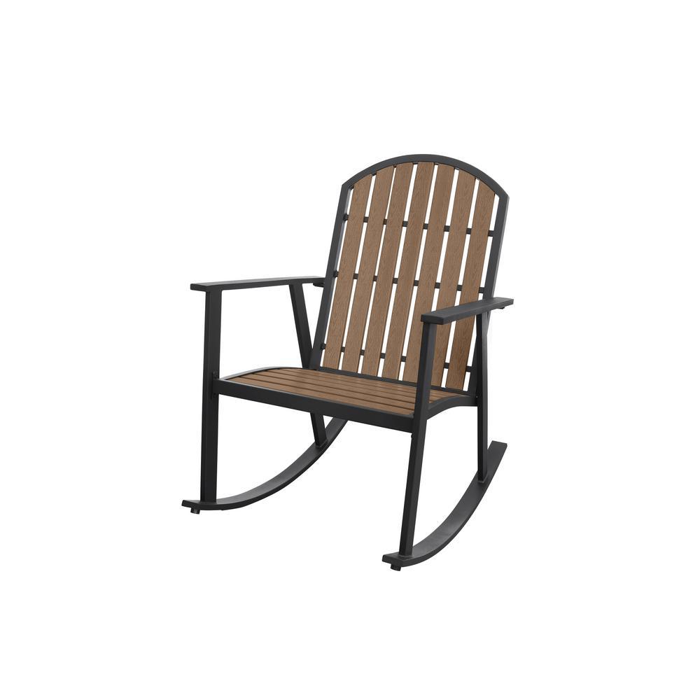 Shoreline Natural Metal Outdoor Rocking Chair