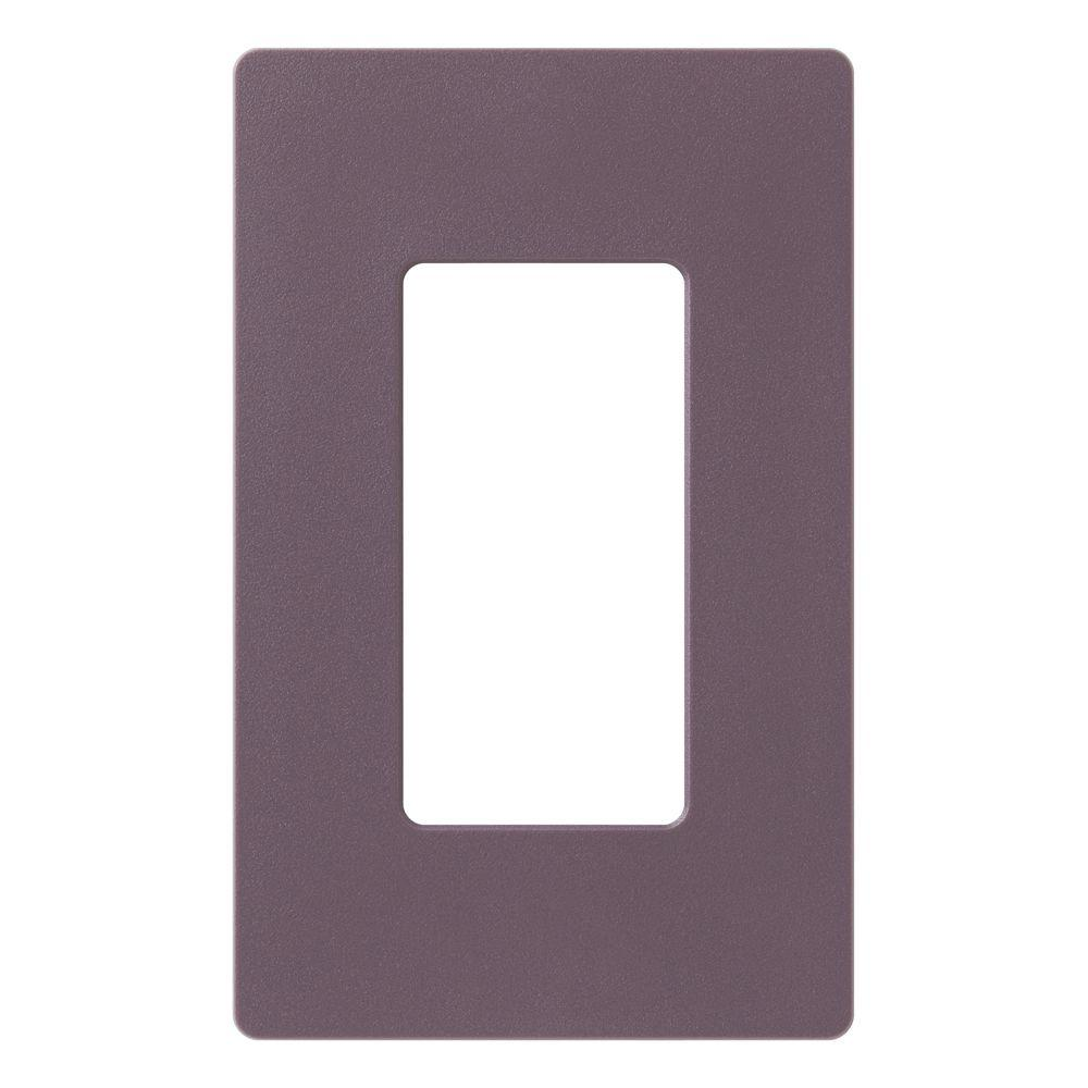 Claro 1 Gang Decorator Wallplate, Plum