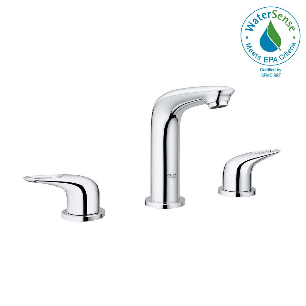 GROHE GROHE Eurostyle 8 in. Widespread 2-Handle Bathroom Faucet in StarLight Chrome