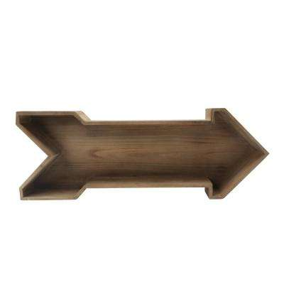 LeLay 5 in. x 28 in. x 10 in. Brown Wood Decorative Wall Shelf