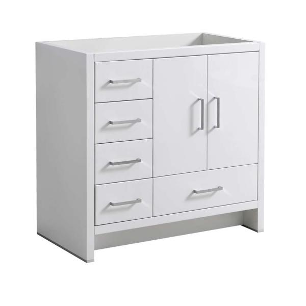 Fresca Imperia 36 In Modern Bath Vanity Cabinet Only With Left Side Drawers In Glossy White Fcb9436wh L The Home Depot