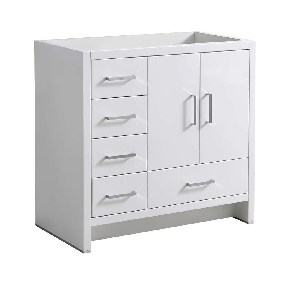 Fresca imperia 36 in modern bath vanity cabinet only with - Bathroom vanity with drawers on left ...
