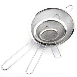 3-Piece Stainless Steel Mesh Strainer Set by