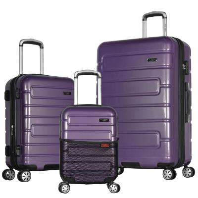 Nema 3-Piece Purple PC Exp. Hardcase Spinner Set with TSA Lock