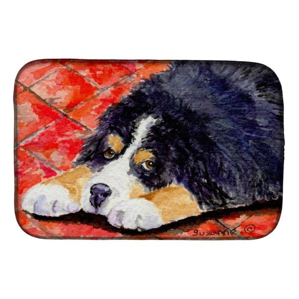 Caroline S Treasures 14 In X 21 In Multicolor Bernese Mountain Dog Dish Drying Mat Ss8842ddm The Home Depot