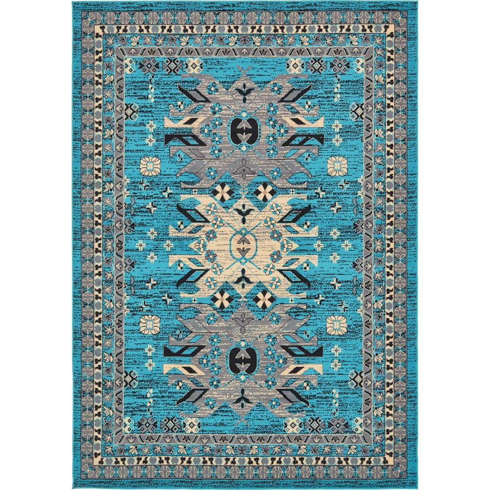 Taftan Oasis Turquoise 7' 0 x 10' 0 Area Rug