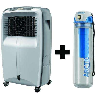 700 CFM 3-Speed Portable Evaporative Cooler with Free Cordless 4-Volt 16 oz. Personal Mister