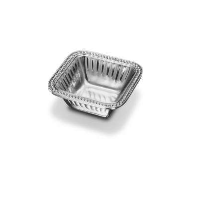 Flutes and Pearls Square Dip Serving Bowl