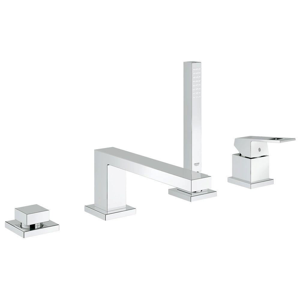 GROHE Eurocube Single-Handle Deck-Mount Roman Tub Faucet with ...