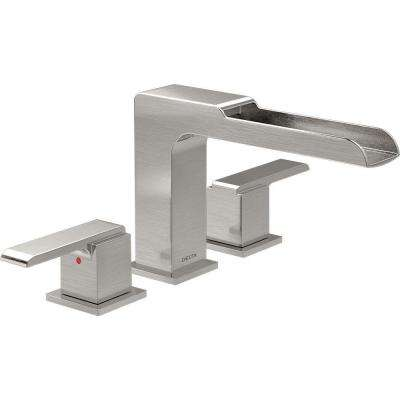 Ara 2-Handle Deck-Mount Roman Tub Faucet Trim Kit with Channel Spout in Stainless (Valve Not Included)