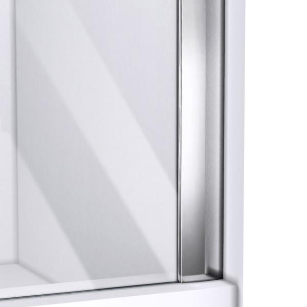 Dreamline Allure 62 In To 63 In X 73 In Semi Frameless Pivot Shower Door In Chrome Shdr 4262728 01 The Home Depot