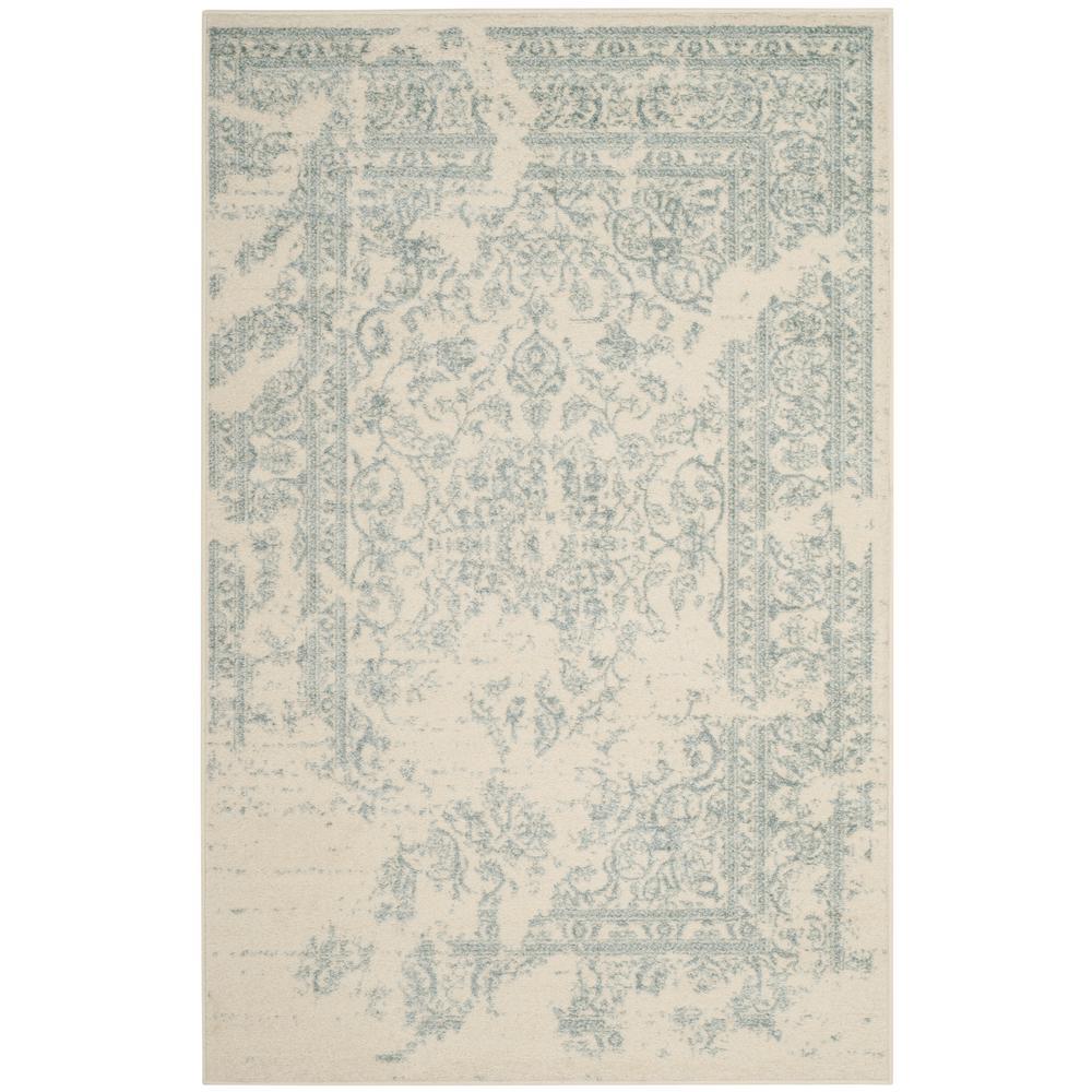 Adirondack Ivory/Slate 4 ft. x 6 ft. Area Rug