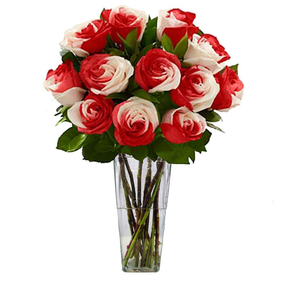 The Ultimate Bouquet Gorgeous Sweetheart Rose Bouquet in Clear Vase (6 Stem) Overnight Shipping Included