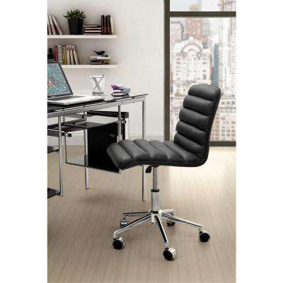 Admire Black Leatherette Office Chair