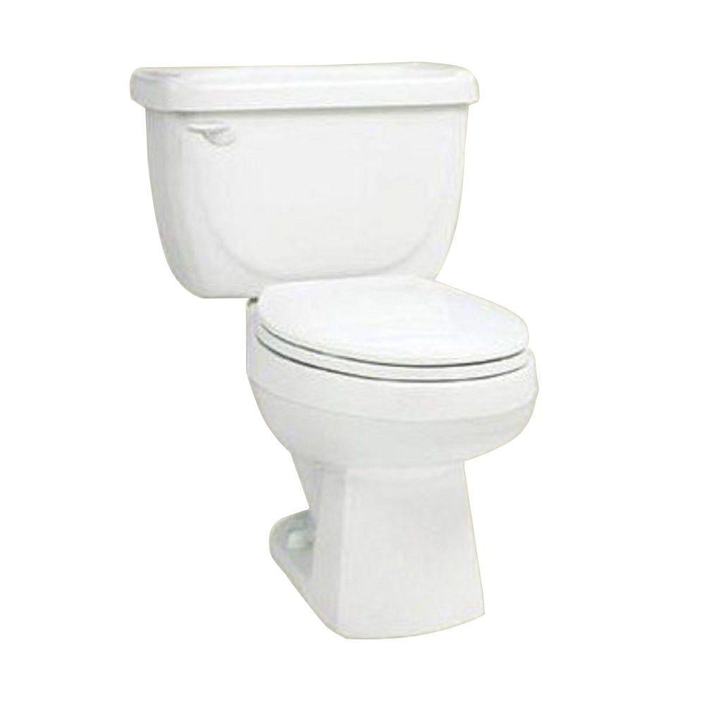 null Marathon 2-Piece 1.6 GPF Round Front Water Closet Toilet in Bone