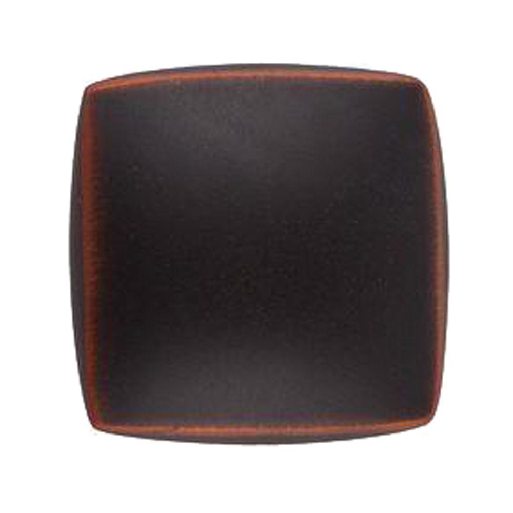 1-1/4 in. Oil Rubbed Bronze Square Cabinet Knob