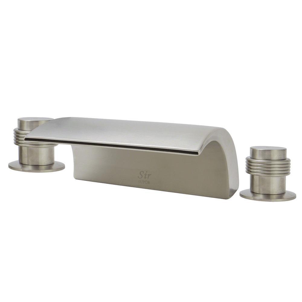 2-Handle Deck-Mount Roman Tub Faucet in Brushed Nickel