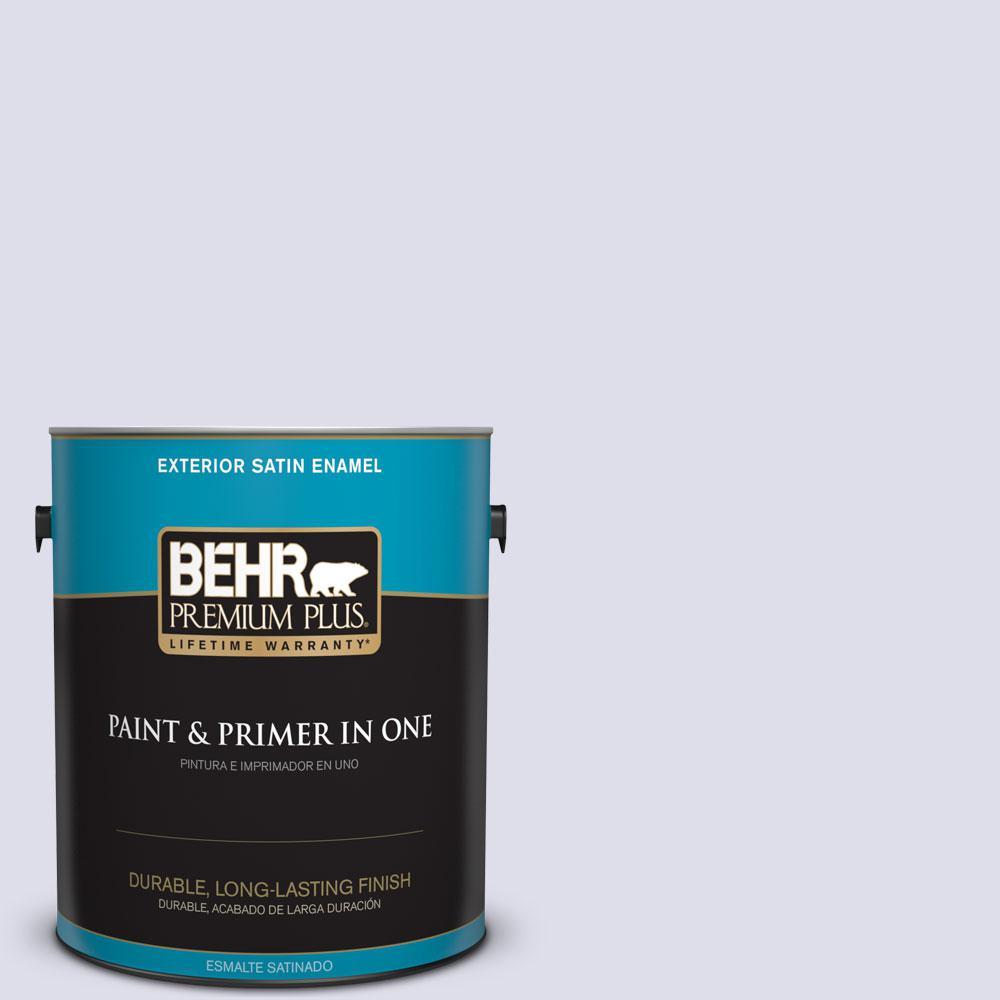 BEHR Premium Plus 1-gal. #640C-1 Hosta Flower Satin Enamel Exterior Paint