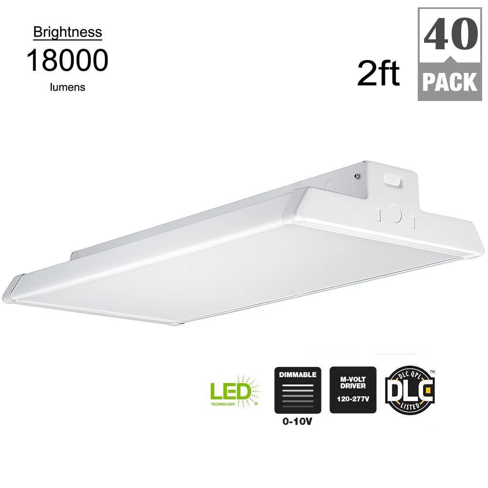 2 ft. 400 Watt Equivalent White Integrated LED Linear High Bay (40 Pack)