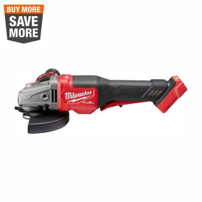 M18 FUEL 18-Volt Lithium-Ion Brushless Cordless 4-1/2 in./6 in. Braking Grinder with Paddle Switch (Tool-Only)