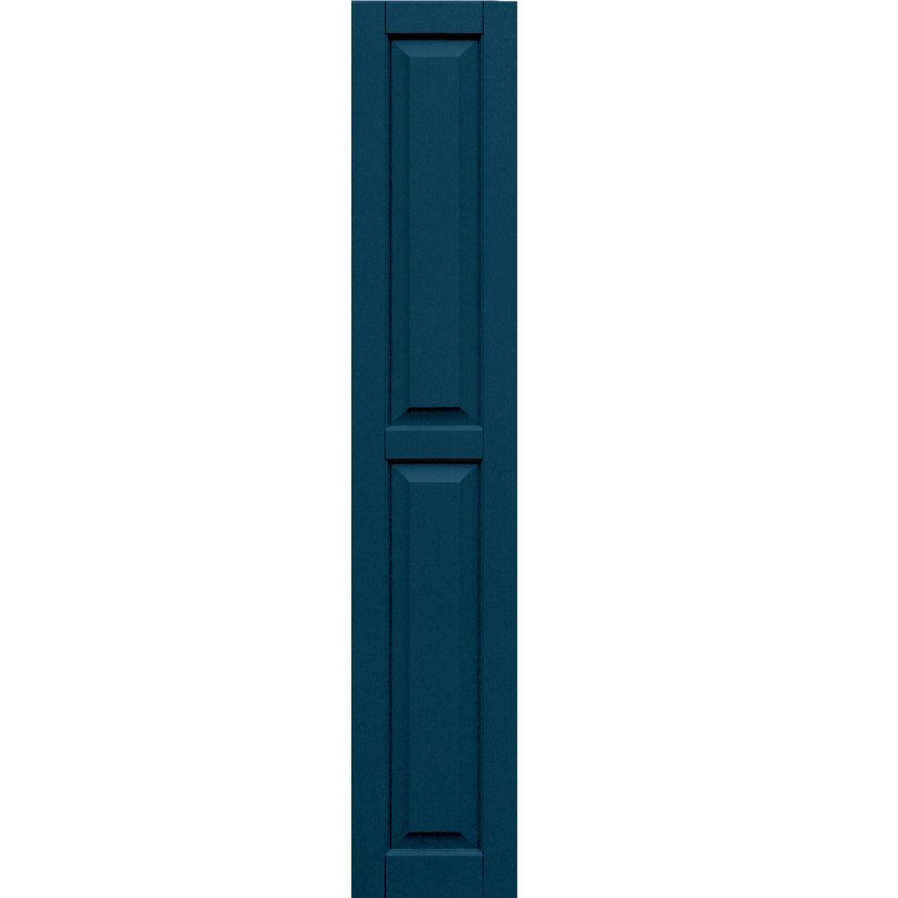 Winworks Wood Composite 12 in. x 67 in. Raised Panel Shutters Pair #637 Deep Sea Blue